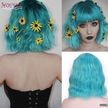 HOUYAN Short Hair Wigs Women'S Bob Style Full Head Wig Heat Resistant Synthetic Wave Short Hair