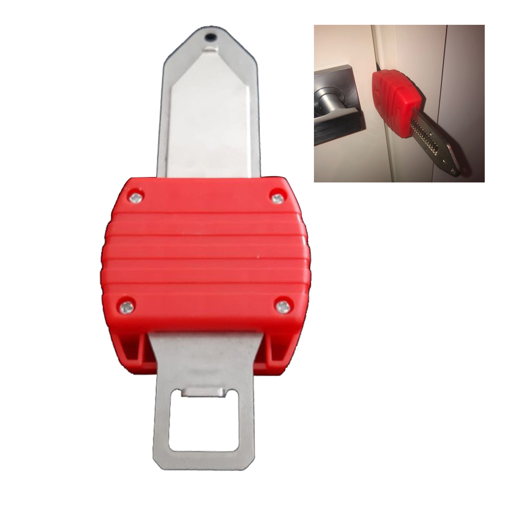 Creative Portable Home Door Locks Self-defence Anti-theft Safety Door Stop Travel Accommodation 40DC12