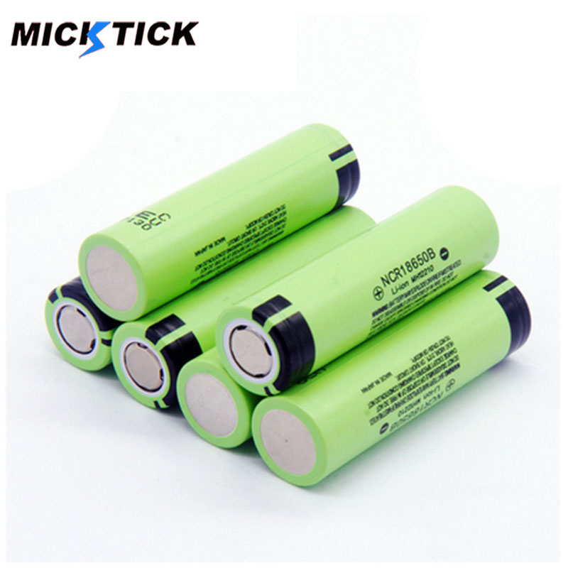 2019 MICKTICK 100% New Original <font><b>NCR18650B</b></font> 3.7 v 3400 mah <font><b>18650</b></font> Lithium Rechargeable Battery For Flashlight batteries (NO PCB) image