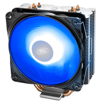 DEEPCOOL GAMMAXX 400 V2 4 heatpipe CPU cooler radiator 120mm LED CPU cooling fan 4pin For LGA775/1155/1151/1366/AM4/AM3 image