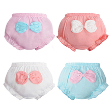 Baby boy's Girl's Cotton Ruffle Lace Shorts Infant Diaper Cover Bloomers Solid Underwear Briefs Pink Panties Frill Knickers