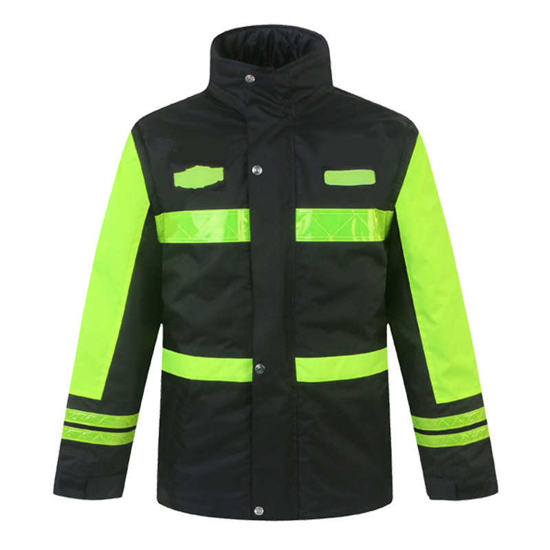 Reflective Cotton Clothing High-Speed Rescue Construction Project Road Traffic Jacket Male Thick Cotton Clothing