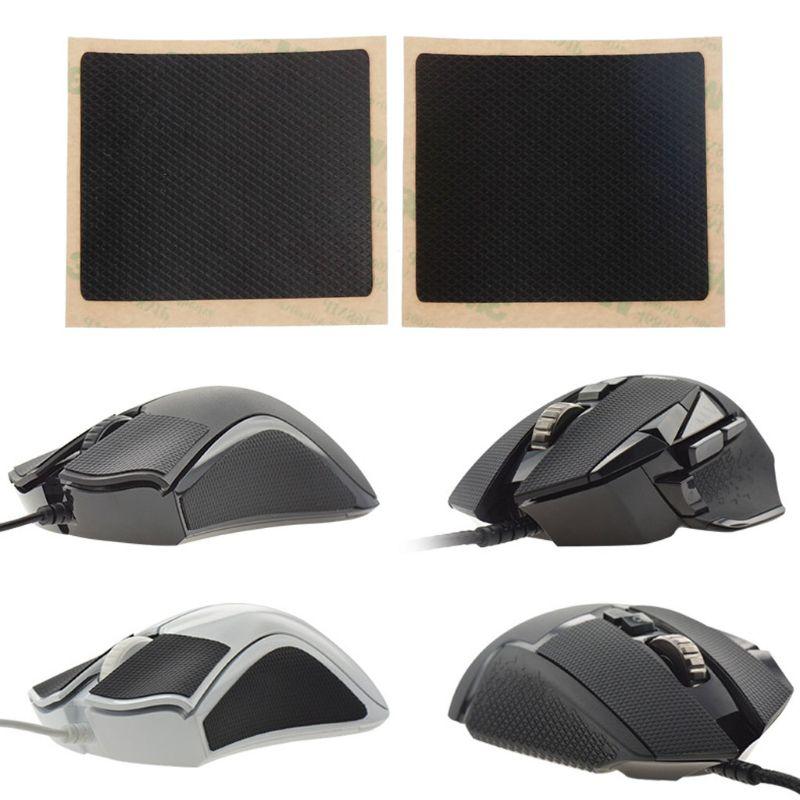 2Pcs/pack Original Hotline Games DIY 6x7cm Mouse Skates Side Stickers Sweat Resistant Pads Anti-slip Tape