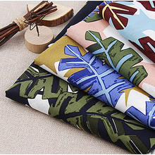 Lychee Life 50x140cm Plant Printed Fabric Fashion Colorful Fabrics DIY Handmade Sewing Clothes Supplies Decorations