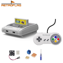 Retroflag SUPERPi Case Deluxe Edition J with Classic USB Wired Controller J for Raspberry Pi 3B Plus /3B+ / 3B / 2B