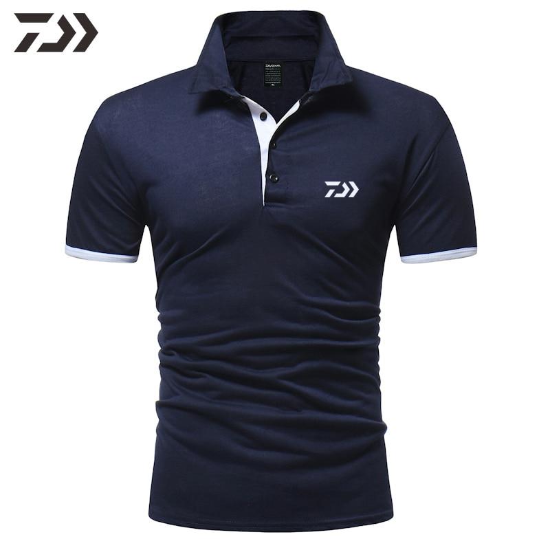 Daiwa Fishing Clothing Breathable Polo T Shirt Fishing Men Polo Shirt Men Top Casual Sport Fishing Shirt Daiwa For Fishing Wear