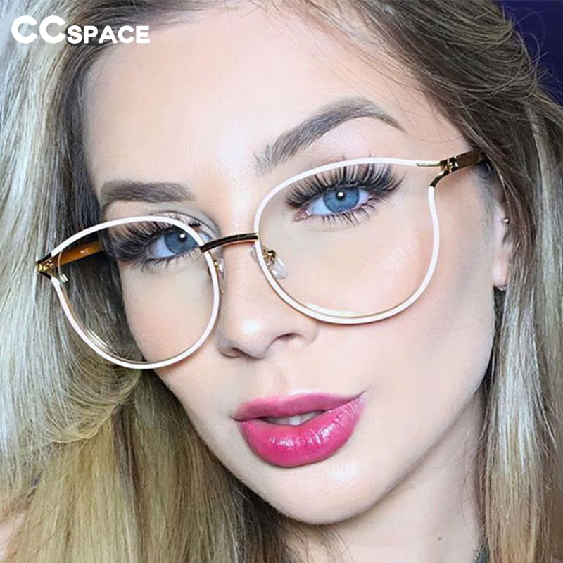 45962 Plastic Titanium Cat Eye Round Glasses Frames Men Women Optical Fashion Computer Glasses