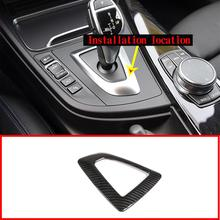 Carbon Fiber Style ABS For BMW F20 F30 F32 F33 F34 F36 1 3 4 Series Car Gear Shift Frame Trim Left Hand Drive Accessories universal replacement carbon fiber mirror cover for bmw rearview door mirror covers x1 f20 f22 f30 gt f34 f32 f33 f36 m2 f87 e84