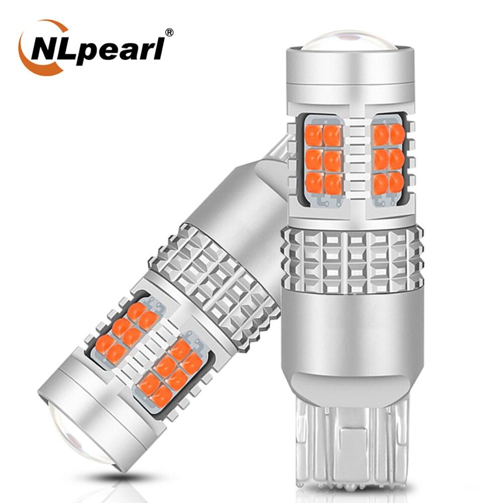 NLpearl 2X сигнальная лампа T20 7440 светодиодный W21W W21/5 Вт 7443 3030SMD 1156 BA15S P21W светодиодный BAU15S 1157 BAY15D светодиодный Автомобильная Поворотная сигнальна...