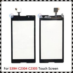 "Image 4 - באיכות גבוהה 5.0 ""עבור Sony Xperia C S39H C2304 C2305 מגע מסך Digitizer חזית זכוכית עדשת חיישן פנל"