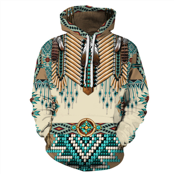 Indian Bohemian European and American Fashion Lovers  Hoodie Men's Loose Large Size 3D Printed Men's Hoodie Goes With Everything