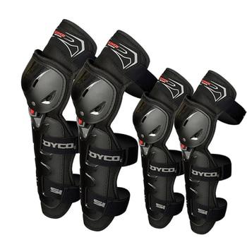 4 Uds rodilleras de motocicleta y coderas Protector de Moto Motocross equipo de protección de seguridad para Motocross