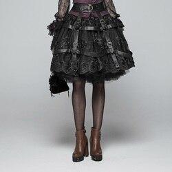 PUNK RAVE falda ajustable Steampunk de las mujeres cubierta de cuero hebilla de Metal personalidad mujeres falda cubierta Accesorios