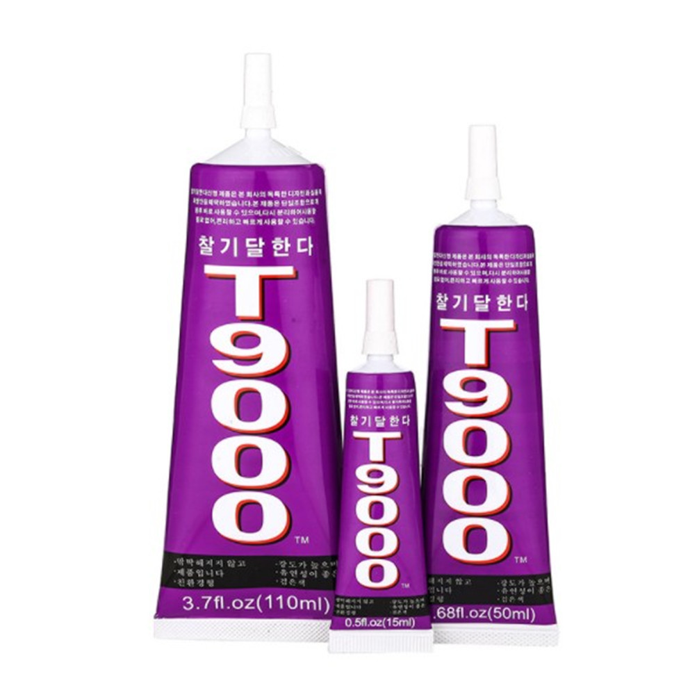 AAA+++ T9000 110ml Transparent Liquid Glue More Powerful New Epoxy Resin Adhesive Sealant Handset Touch Screen
