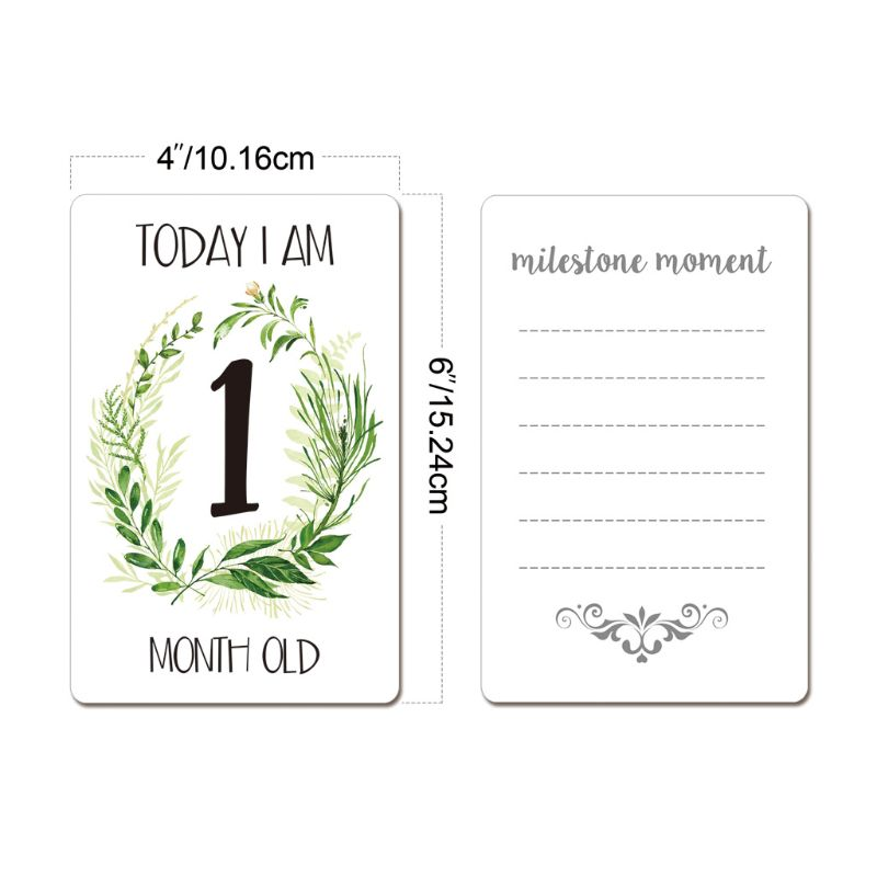 12Pcs Baby Monthly Cards Sticker Photography Photo Age Cards Baby Shower Registry Gift Hot