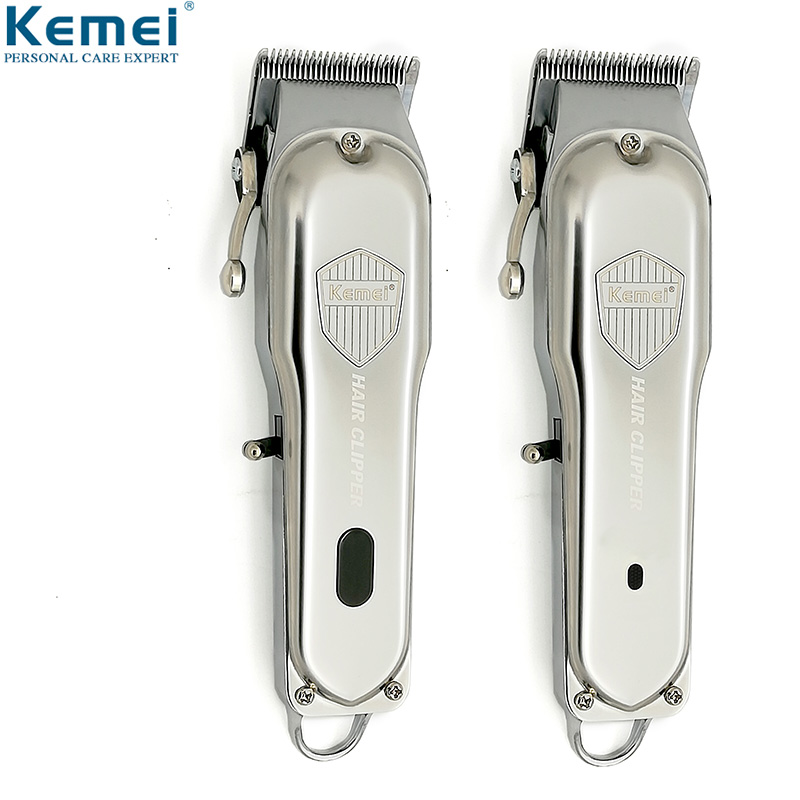 Kemei Professional Powerful All Metal Hair Clipper Electric Hair Trimmer LCD Display Hair Cutting Machine Barber Mower KM-1993