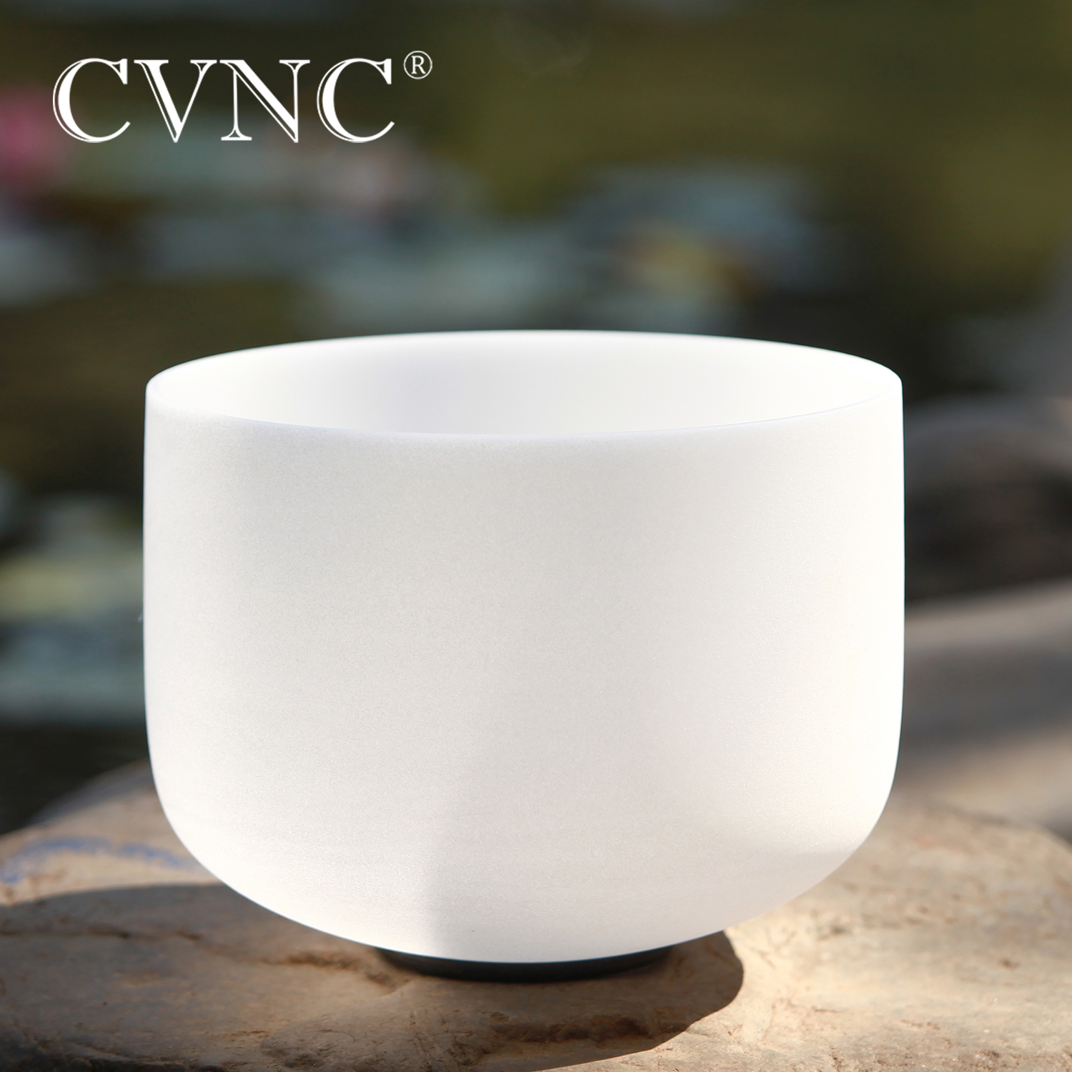 """CVNC  10"""" Chakra  Note C D E F G A B C# D# F# G# A# Any One Note  Frosted Quartz Crystal Singing Bowl"""