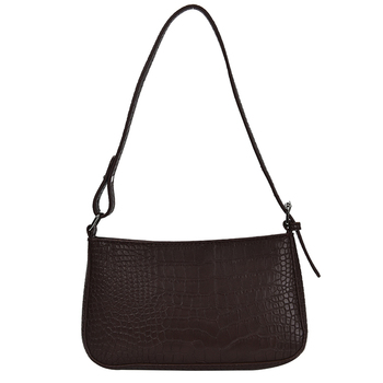 Vintage Shoulder Leather Square Bag Fashion Lady Handbag Retro Clutches Classic Crocodile Purse Crossbody Bags Adjustable Strap