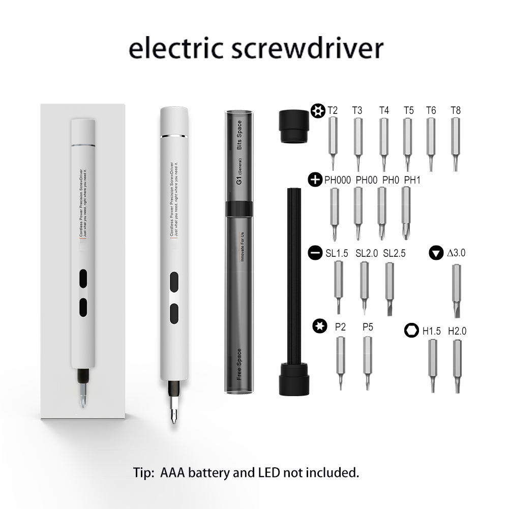 Portable Electric Screwdriver with 8 Bits,Mini Precision Electric Repair Kits for Smartphones Watches Camera Laptop