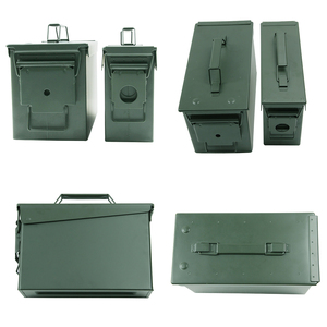 Image 4 - 30+50 Cal/Set Metal Ammo Case Can Military Solid Steel Holder Box Waterproof Tactical Box for Long Term Bullet Valuables Storage