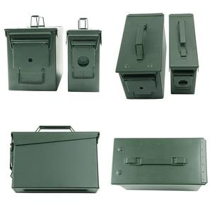 Image 4 - Caja de almacenamiento de munición de Metal, caja de soporte de acero sólido militar, resistente al agua, para almacenamiento de objetos de valor de bala a largo plazo, 30 + 50 Cal/Set