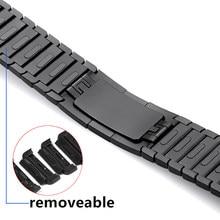 Banda para apple relógio link pulseira série 6 5 4 3 2 para iwatch 44 40 42 38 de alta qualidade aço inoxidável cinta ajustável gen.6th