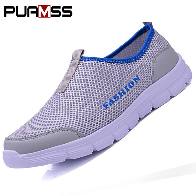 PUAMSS Men Aqua Shoes Outdoor Breathable Beach Shoes Lightweight Quick-drying Wading Shoes Sport Water Camping Sneakers Shoes