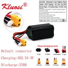 Bateria recarregável do li íon 7.4v do uav da alta capacidade de kluosi 2s2p 8.4v 7ah para o vário quadrotor XH2.54 3P xt60 do zangão do avião de rc