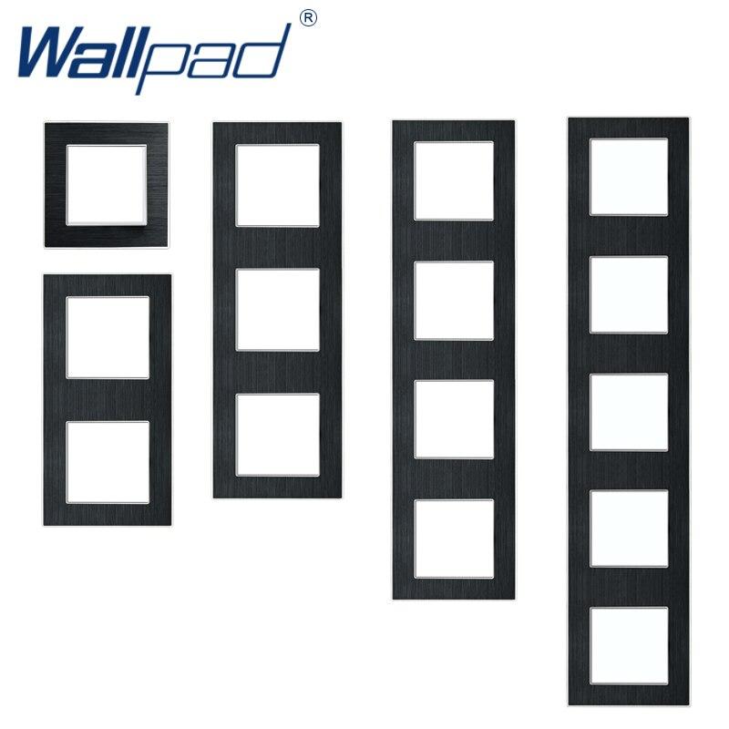 Wallpad Aluminum Alloy Panel Frame Black Metal Hotel Panel  86*86mm 146*86mm 172*86mm 258*86mm 344*86mm 430*86mm Frame Only