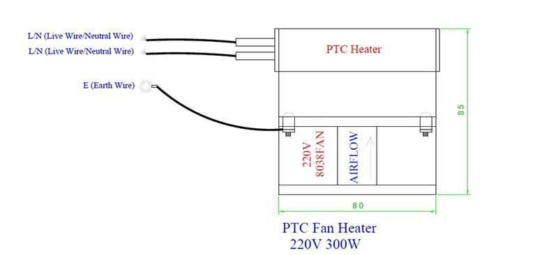 Бесплатная доставка промышленных PTC нагреватель вентилятора 700 Вт ~ 1000 Вт 220 В AC инкубатор
