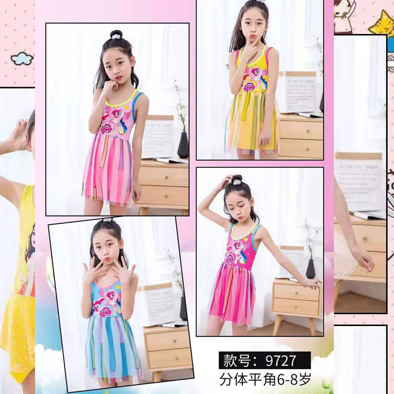 2019 Hot Selling One-piece KID'S Swimwear Floral Children WOMEN'S Swimsuit (6-10-Year-Old) Tour Bathing Suit 9727 No