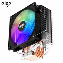 Aigo ICE400 4 Heatpipes Rgb Cpu Koeler Radiator Koeling Stille 120Mm 4PIN Pwm Fan Intel 1150 1155 1156 1366 x99 AM2/AM3 +/AM4 Amd
