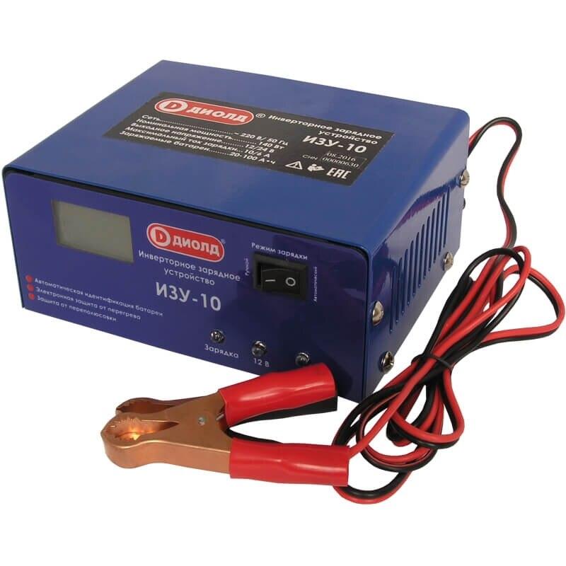 Устройство зарядное Диолд ИЗУ-10 (Выходное напряжение 12/24 В, входное 220 В, мощность 140 Вт, ток зарядки 10 А)