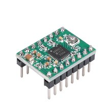 Reprap Stepper Driver A4988 Stepper Motor Driver Module with Heatsink 10pcs lot drv8825 stepper motor driver reprap carrier reprap 4 pcb board replace a4988 for 3d printer stepstick