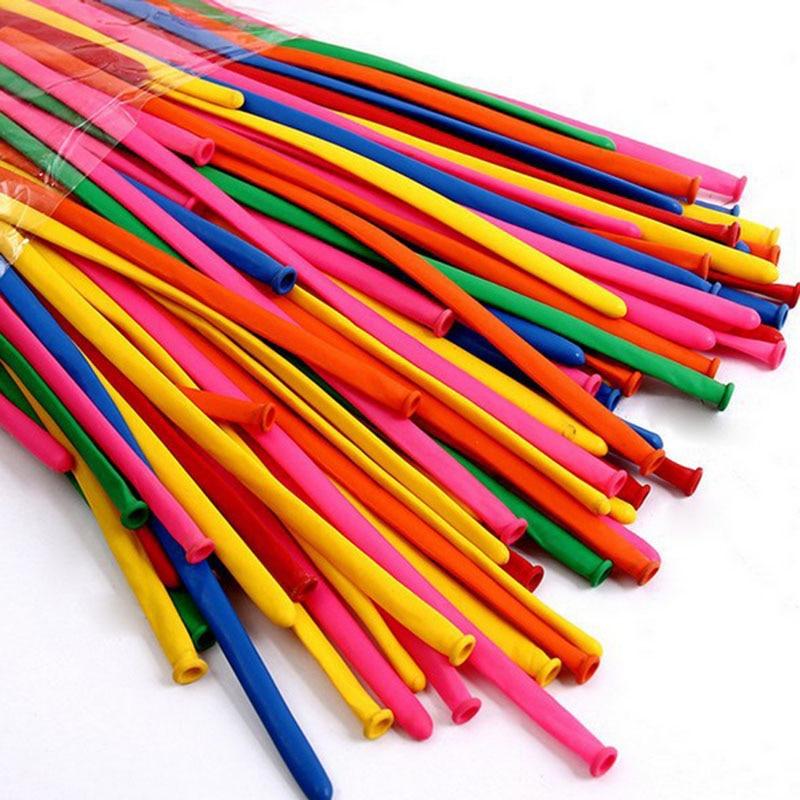 100 шт. цветной волшебный латексный цветной яркий дракон длинный Плетеный шар складной стиль разнообразные воздушные шары Детские игрушки с...