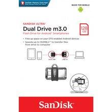 Флеш-накопитель Sandisk Флеш-накопитель SanDisk Ultra Dual Drive m3.0 128GB Grey & Silver