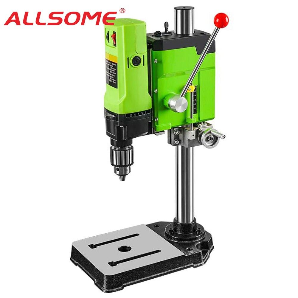 ALLSOME MINIQ Bench Drill Stand Cross Slide Vise Milling Machine Worktable Bench Flat Vise Universal Angle Grinder Stand Holder