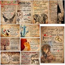 Diy Diamond Painting Full Square/Round Family Poster TO MY WIFE I LOVE YOU Diamond Embroidery Cross Stitch Home Decor Art Gift блюдо декоративное home philosophy 28 см i love my home 402171