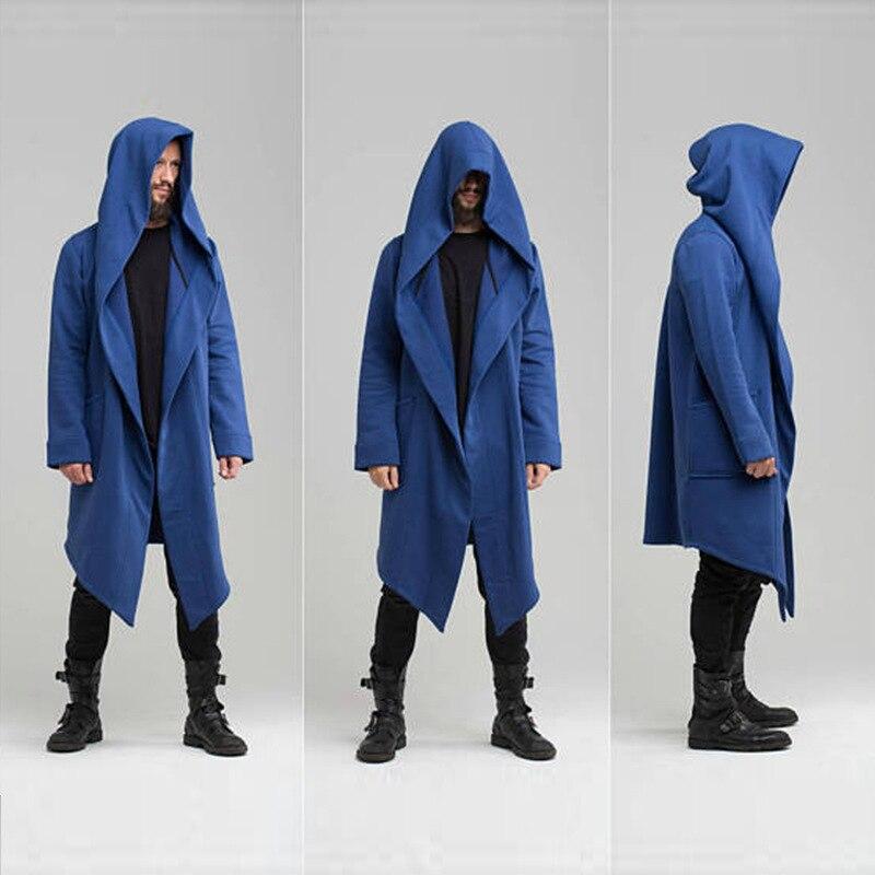 2020 New Men Hooded Sweatshirts Jacket Long Cardigan Cloak Coat Sweater Hoodie Mens Coats Hip Hop Mantle Hoodies Autumn Winter 3