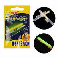 Clip On! 20 pcs (10 sacos) XL L M Night Iluminação Pesca Vara Wand Verde chemical vara do fulgor bastão de luz vara de pesca articulos de pesca