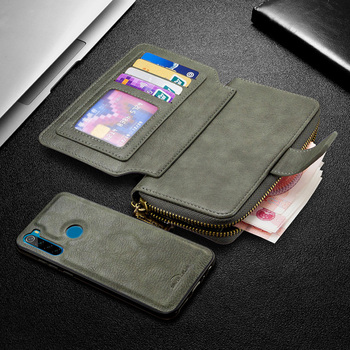 Wallet Leather Case For Xiaomi Redmi Note 9 9s 8T 8 K20 8A 7A MI Note 10 9T Detachable Magnetic Zipper Flip Case Card Slots Hold