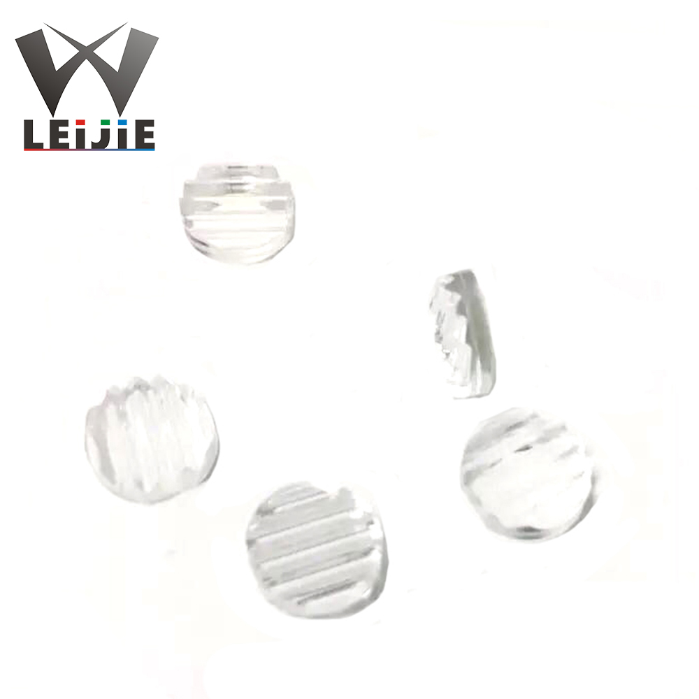 50pcs 15 ° / 30 ° / 60 ° / 90 ° / 110 ° 8mm Diameter Line Lens Laser Lens PMMA Optical Lens For Laser Module