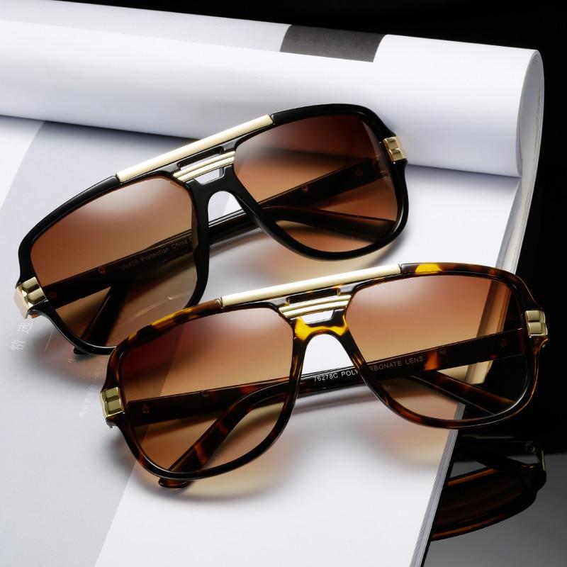 New Fashion Sunglasses Brand Design Women Men Luxury Sun Glasses Vintage Square UV400 Sunglass Shades Eyewear Gafas De Sol
