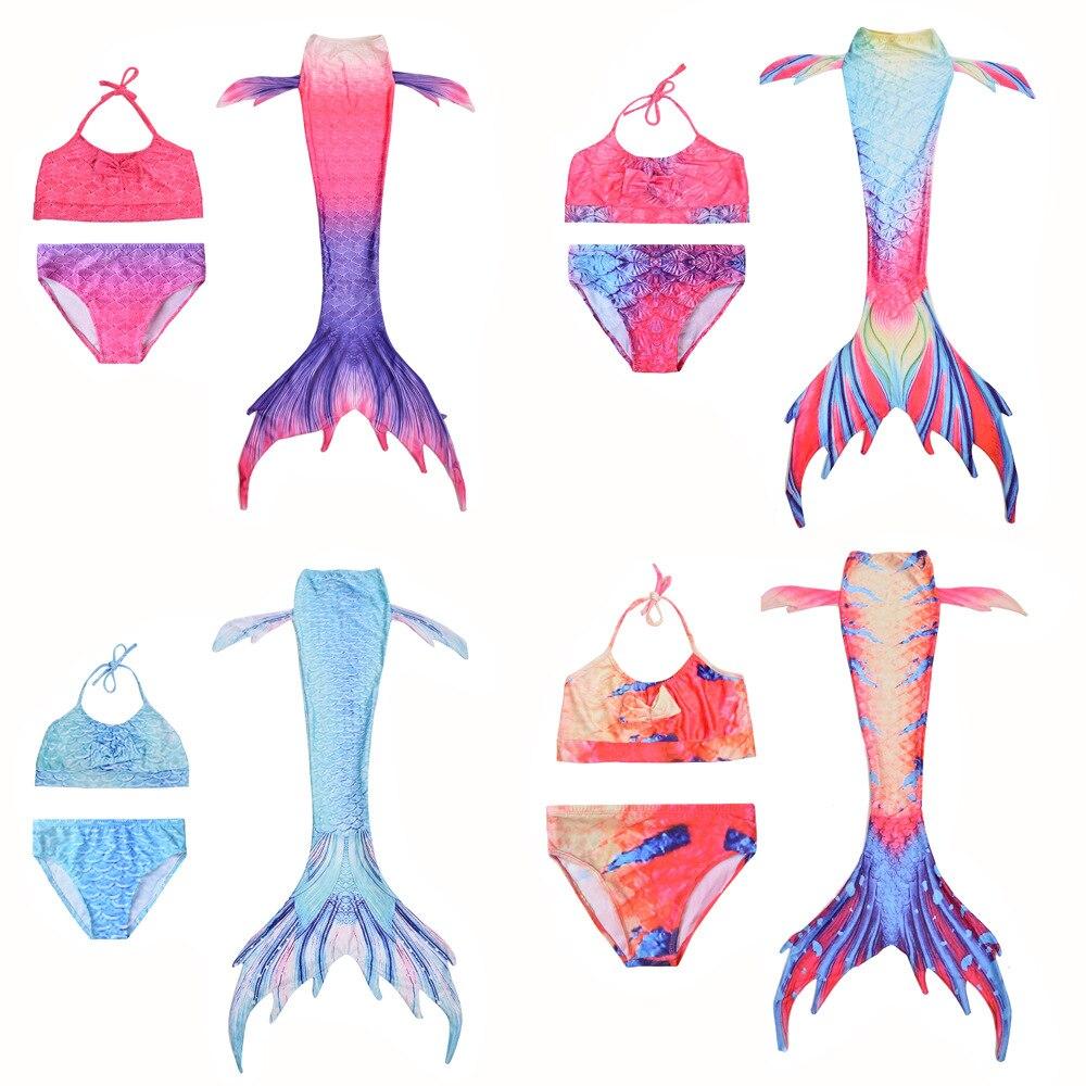 2019 New Children Mermaid Swimsuit Mermaid Tail Tour Bathing Suit Mermaid Clothing Tour Bathing Suit Bikini Swimming