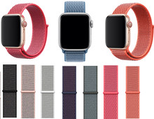 Correa tejida de repuesto para Apple Watch correa de nailon Correa deportiva 38mm 42mm 40mm 44mm pulsera para iwatch Correa serie 5/4/3/2/1(China)