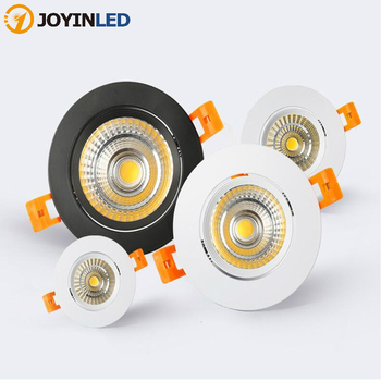 Dimmable Recessed LED Downlights 5W 7W 9W 12W COB LED Ceiling Spot Lights AC85~265V Warm Cold White LED Lamps Indoor Lighting dhl free shipping cob par30 led bulb light 30w e27 indoor embedded led spot lights spotlights white gray shell ac85 265v