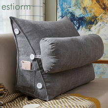 Reading-Pillow Lumbar-Support-Cushion Bedside Sofa Wedge-Bed Back-Rest Velvet Comfort