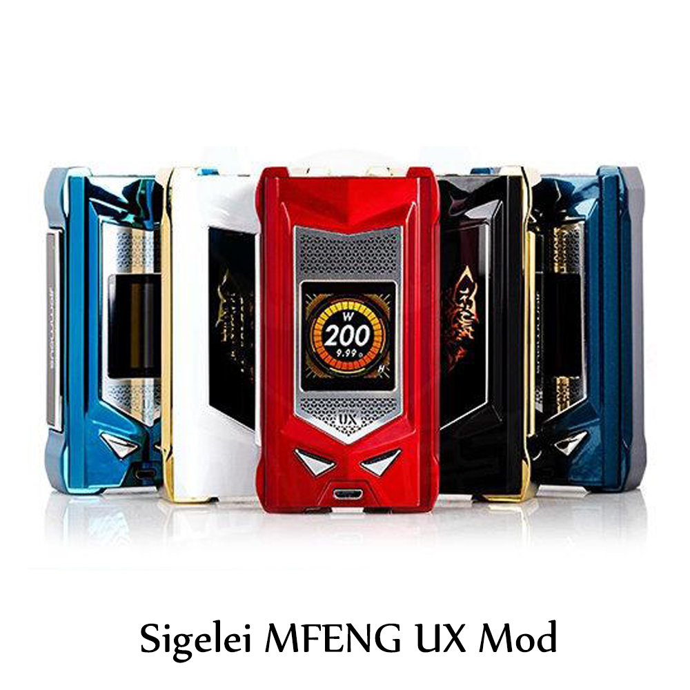 Sigelei Mfeng UX Mod 200W Powered By Dual 18650 Electronic Cigarette SNOWWOLF Upgraded Version Box Mod