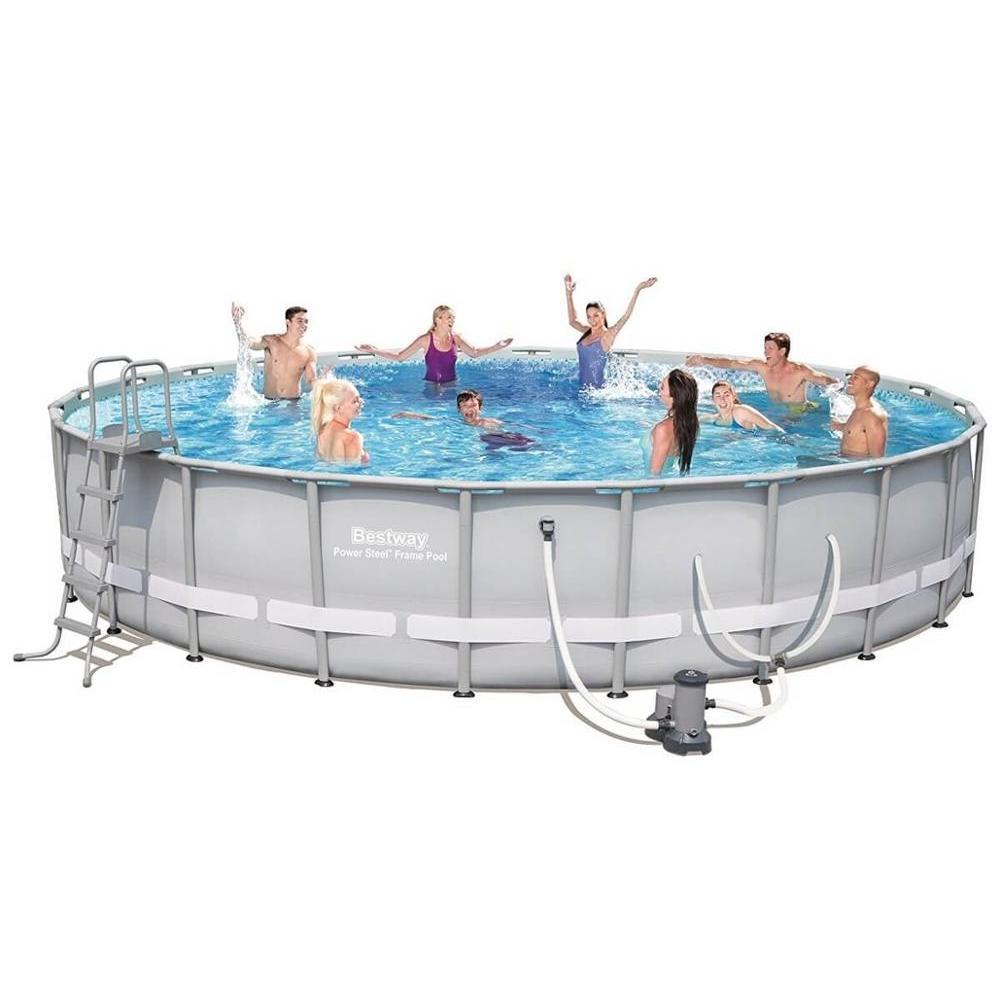 Scaffold Round Pool For Garden For Summer Leisure Big 671 х132 Cm, 40377 L, Full Set, Bestway, Item No. 56705