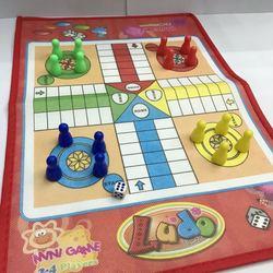 Jogo de xadrez infantil ludo, jogo de xadrez para festas, diversão, clássico, divertido, infantil presentes